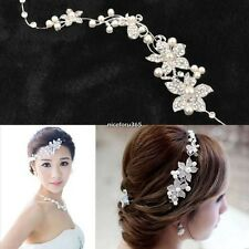Women Wedding Flower Beauty Crystal Headband Fashion Hair Accessories Clip Hot