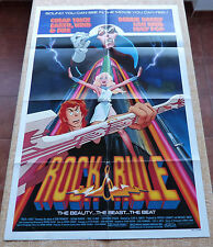 Rock & Rule Movie Poster, Folded, Original, One Sheet, year 1983, Printed in USA