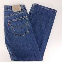 """LEVIS 550 Relaxed Fit Womens Dark Wash Denim Jeans Size 16 Regular 28"""" Inseam"""