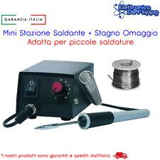 MINI STAZIONE SALDANTE PER SALDATURE SMB PUNTA 0.3mm CON STILO PIU STAGNO 17G