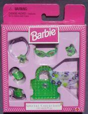 barbie bijoux accessoire sac chaussure CITY PRETTY SET vert Vintage 22296 22199