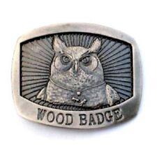 WOOD BADGE OWL  BELT BUCKLE WOODBADGE