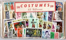 Miscellaneous Collection of 100 Stamps - Costumes Mint/VFU OK117