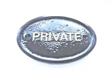 PRIVATE - HOUSE DOOR PLAQUE WALL/GATE SIGN GARDEN WITH GOLD RAISED LETTERING