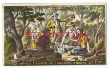 LIBBY McNeill & LIBBY COOKED MEATS for LUMBERMEN & MINERS ca1890 Trade Card