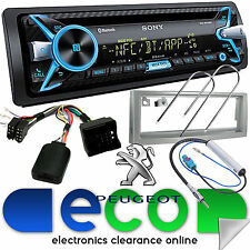 Peugeot 407 Sony CD MP3 USB 55x4 Bluetooth Car Stereo Silver Fascia Steering Kit