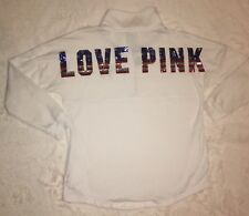 Victoria's Secret VS PINK Bling Pullover American Flag Limited Edition Size L