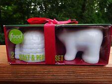 Food Network Salt & Pepper Shaker Set Holiday Polar Bear & Igloo New Boxed Set