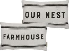 "NEW!~Double Sided Pillow~""Farmhouse & Our Nest""~Family/Bird/Farm/Cottage/Welcome"