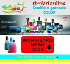 25 ml Inchiostro nero 801 Colop  per tamponi  timbro