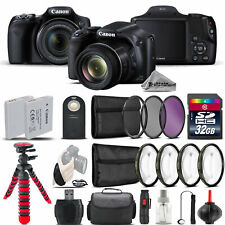 Canon PowerShot SX530 HS Digital Camera + Tripod  + EXT BAT + Filter - 32GB