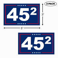 TRUMP 2020 Bumper Sticker Vinyl Decal 45th President Second Term 2nd MAGA 2-PACK