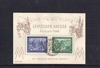 Alliierte Besetzung - Sonderkarte - Leipziger Messe 1948 mit Sonderstempel
