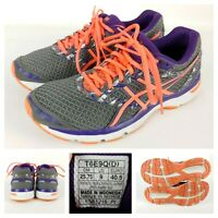 ASICS Gel-Excite 4 Women Size 9 Running Shoes Gray/Purple/Pink Athletic Training