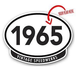 Vintage Speedwerks car sticker (choose your own year) 100x75mm bumper sticker