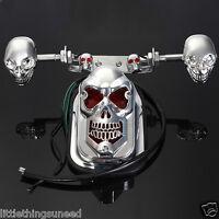 Moto, Skull, Freno, Trasero, Luz, Intermitentes, Cortar, Trike, Project, Honda ,