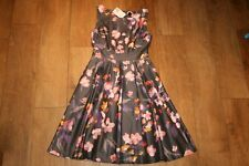 NEW&TAGS H&M floral dress SIZE 8 10 vintage wedding 50's party prom pleat swing
