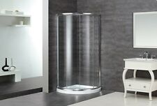 "ASTON GLOBAL 36"" x 36"" x 75"" Semi-Frameless Corner Round Shower Enclosure +Base"