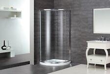 ASTON GLOBAL 36 x 36 75 Semi Frameless Corner Round Glass Door Shower Enclosure