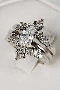 New Avon 3-Pc Marquise Wedding Ring Set - Cubic Zirconia - Sz 5, 6, 7, 9, 10