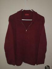 Esprit men's burgundy pullover jacket, see below for dimensions.