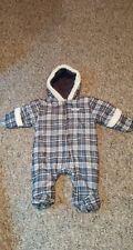 Calvin Klein Boys Size 0/3 Months Newborn Winter One-piece Gray White Plaid