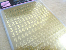 Small Shiny Gold Sticky Adhesive Numbers 0-9, Labels Stickers for Craft WD-12