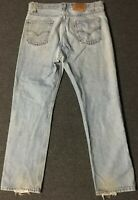 Vtg Levi's 505 Orange Tab Jeans 38/32 Faded Distressed Grunge USA 80s 90s Biker