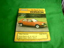 TALBOT HORIZON SALOON LS GL GLS SX 1978 USED AUTODATA REPAIR MANUAL