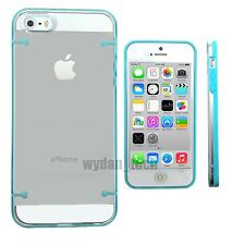 For Apple iPhone 5 5S Case Clear Transparent Frame Bumper Slim Phone Cover