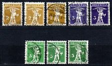 Switzerland - 1909 Wilhelm Tell Mi. 111-13 I-III (All types complete!) FU