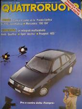 Quattroruote 413 1990 Poster Fiat Tempra 1.6. Opel Vectra. Peugeot 405  [Q.13]