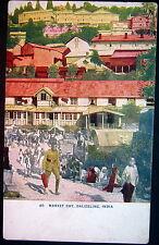 INDIA ~ 1900's DAIJEELING  ~ MARKET DAY  ~ SOLDIER IN UNIFORM