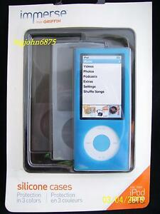 GRIFFIN IMMERSE  SILICONE CASE FOR IPOD NANO 5G 3 COLORS NA01386 BLUE/WHT/GRY