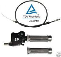 Dual Gas Griff mit Gutachten für Suzuki Quad ATV   Dualgasser Daumen Tüv 3P