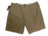 St. John's Bay Men's Casual Flat-Front Shorts Brown Big & Tall Sizes MSRP $40