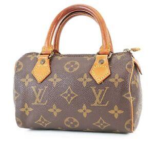 Authentic LOUIS VUITTON Speedy Mini Monogram Boston Hand Bag Purse #38184