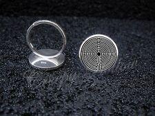 925 Sterling Silver Adjustable Ring Labyrinth Greek mythology