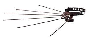 stendibiancheria stendino a raggiera per tubi tubo stufa marrone 8 - 14 cm camin