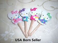 12 Pieces Cupcake Topper Cake Picks HELLO KITTY