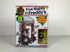 McFarlane Five Nights at Freddy's Star Curtain Stage with Lefty 72 Piece New!