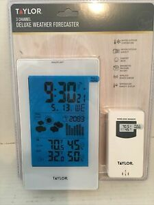 Taylor  Deluxe Wireless Weather Station  Indoor and Outdoor  Digital Thermometer