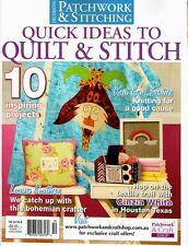 Patchwork & Stitching Quilt Cushion Doll Magazine Pattern Sew Craft Vol 9 No 11