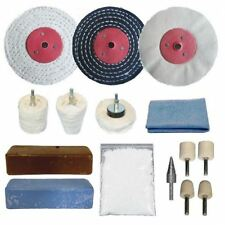 "Alloy Wheel Metal Polishing Buffing Kit For Alloys 15pc 3"" x 1/2"""