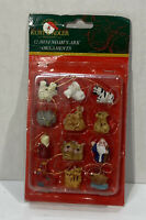 VTG KURT ADLER SANTA's WORLD MINI NOAH's ARK SET 12 CHRISTMAS TREE ORNAMENTS NOS