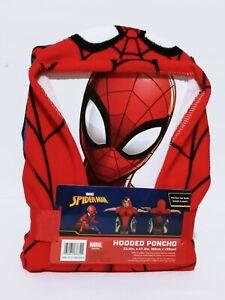 "Spider-Man Hooded Poncho Kids Beach Towel 24""×47"" Marvel Comics Spideman Cartoon"