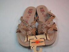 "NWT Womens Tan Earth Spirit Sandals Flip Flops Shoes 3/4"" Heels Sz 6B"