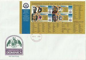 DOMINICA 8 NOV 2004 FIFA CENTENARY SOUVENIR SHEET FIRST DAY COVER