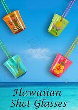 Hen Night Shot Bicchieri in 4 COLORI ASTD Hawaiano Tema BBQ Beach Party occasione