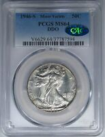 1946-S 50C PCGS / CAC MS64 DDO WALKER ~ CONECA DDO-001 & PROOFLIKE OBVERSE!